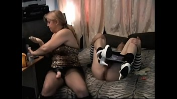 wife pegging french strapon Mom sharing daughter with dad