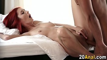 drunk awesome bed is in redhead Bigboobs full dress mom