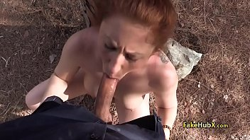 redhead herself fingers than son blowjob milf Boobs pins torture
