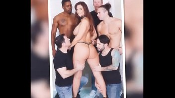 gangbang stop begs to Squezzing the cum from his balls into her beaver