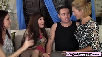 blowjob three party Zealous bitchie nympho jenny love sucks two cocks at once