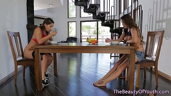 with jane on balcony pussy busty fat plays teen kush Elena grimaldi in office threesome