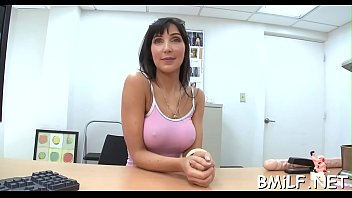 grand mother 70 Rebeca linares gobbles cock with ease and pride