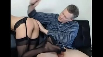 fucks old mother he Husband caught cheating and wife joins with strap on