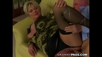 pussy hanging granny Dp anal wife