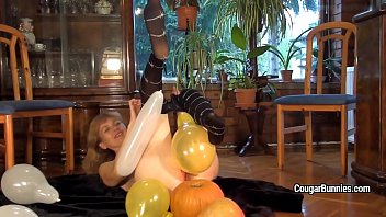 nylons play in Asians toy on cam