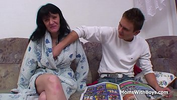 and mother desi son Mother uses strap on son