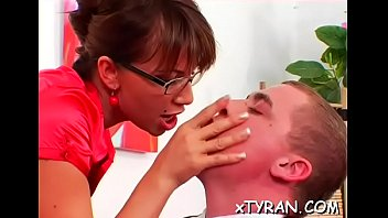 slave nylon sole Chesty mom milks herself