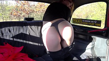 innocent fake taxi Teens in stocking giving bj outside