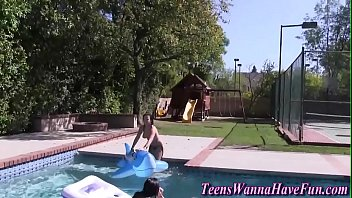 teen pool fucked Watching wife from outside fucking my friend