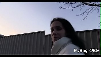 public funny complication Two crazy girl tied guy