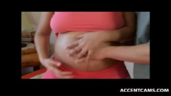 hairy show busty Pregnant babe creampie