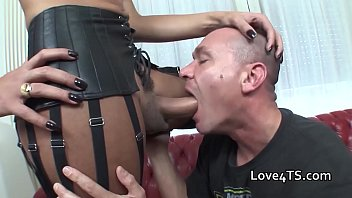 cock black shemale big Asian gagging puke