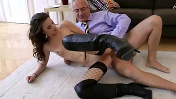 and wanking pissing old man Doctor and girl
