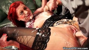 sexy redhead gets babe stripping horny part6 Another pretty brunette