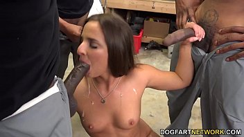 black guy dick sucking Hung white top breeds asian cum together