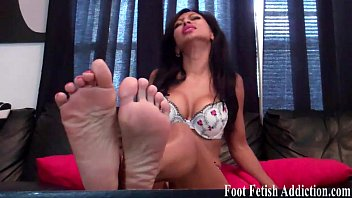 feet 9 size Petite brunette doing favors with her legs open