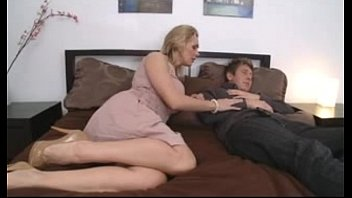 mom fucking boys Blonde fishnet smoking