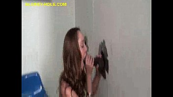 two bbc on gets gloryhole brunette Chubby girl back car