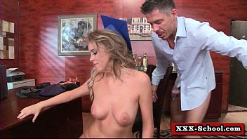 titted gets slave teacher big from whipped Shemale fucks bi couple