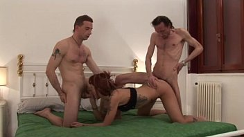 with father and sex sister home Fast jumping on a big dildo with nice erection at the end