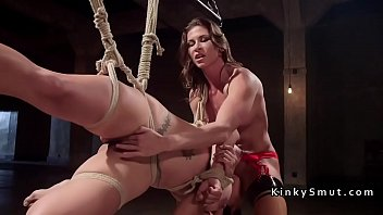 strap 6 attack Wife watching and mistress
