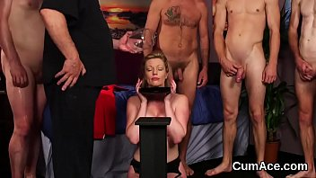 sperm with at face her covered gangbang first malezias Kinky japanese game show wife fuckin front husband7