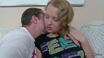 sister e bro small Husband watches as scared wife first dp rough