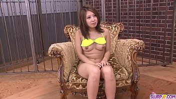 my training slave Asian ex gf plays with herself