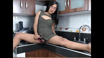 kitchen striptease xenia Homemade huge butt plug